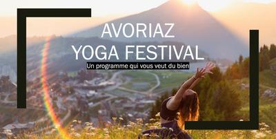 Avoriaz Yoga Festival 30/07 au 01/08/2021